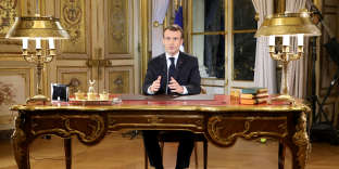 Emmanuel Macron lors de son allocution télévisée du 10 décembre.
