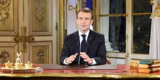 Emmanuel Macron, le 10 décembre, à l'Elysée.