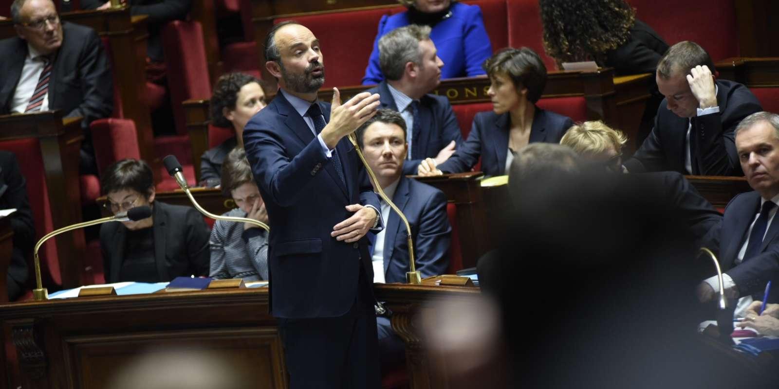 Le premier ministre Edouard Philippe, à l'Assemblée nationale le 11 décembre.