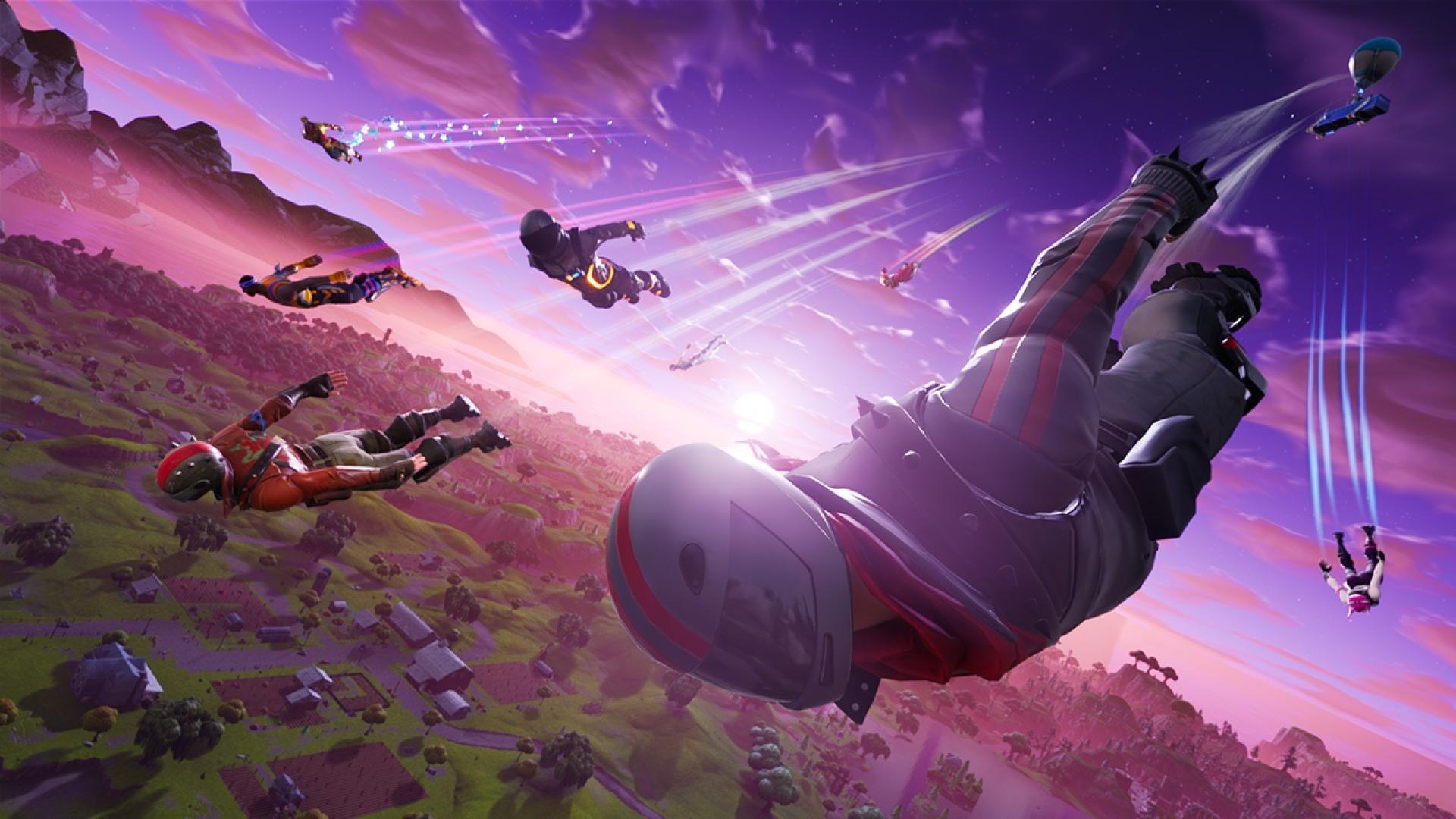 Dans «Fortnite Battle Royale», chaque partie commence par le parachutage de cent concurrents.