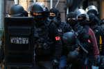 Des policiers de la brigade de recherche et d'intervention, le 12 décembre à Strasbourg.