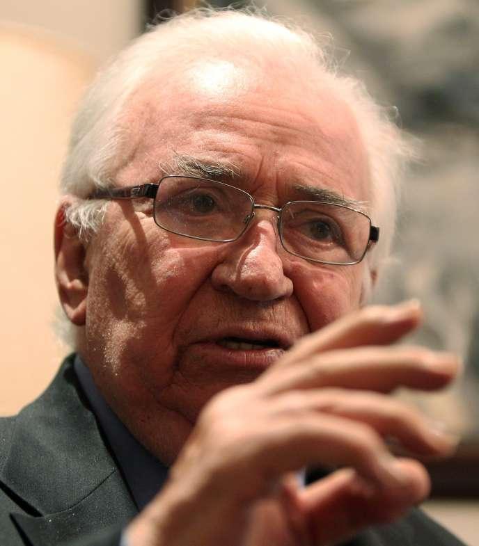 Belisario Betancur, en octobre 2012, à Bogota.