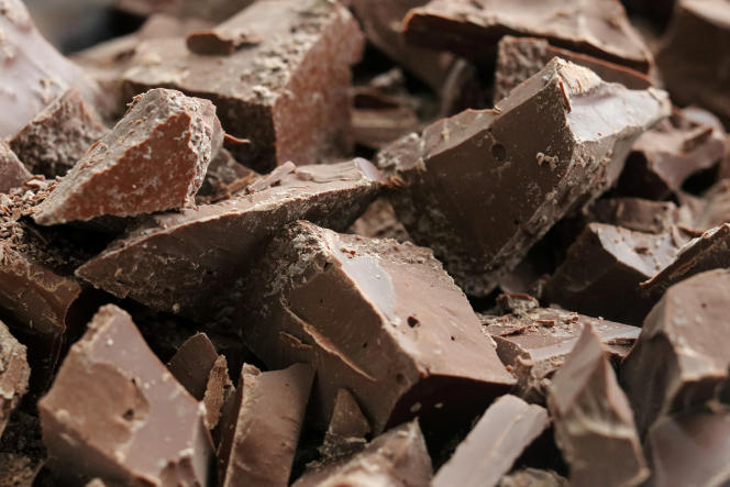 Fabrication de chocolat bio dans une usine àManara(Pérou), en janvier 2017.