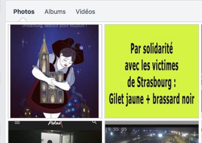 Images postées dans le groupe Facebook «Alsace blocage national contre la hausse des taxes», mercredi 12septembre.
