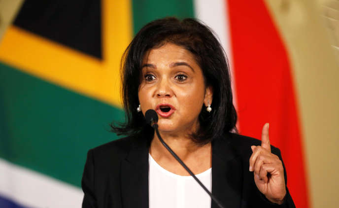 La nouvelle procureure générale sud-africaine Shamila Batohi, à Pretoria, le 4 décembre.