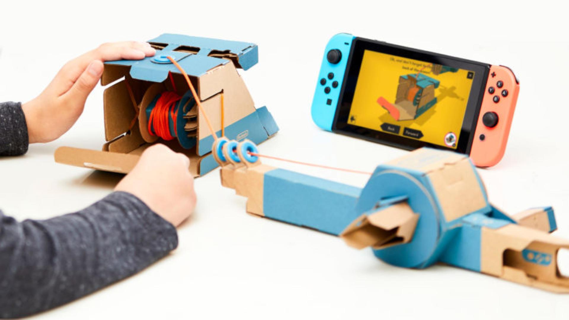 Dans l'adorable et ingénieux «Nintendo Labo», le joueur construit sa manette avec des bouts de carton.