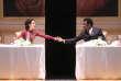Chloé Réjon (Lady Macbeth) et Adama Diop dans le rôle-titre de « Macbeth », à l'Odéon-Théâtre de l'Europe, en janvier.