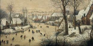 « Paysage d'hiver avec patineurs et trappe aux oiseaux », de Bruegel l'Ancien (huile sur bois, 1565).