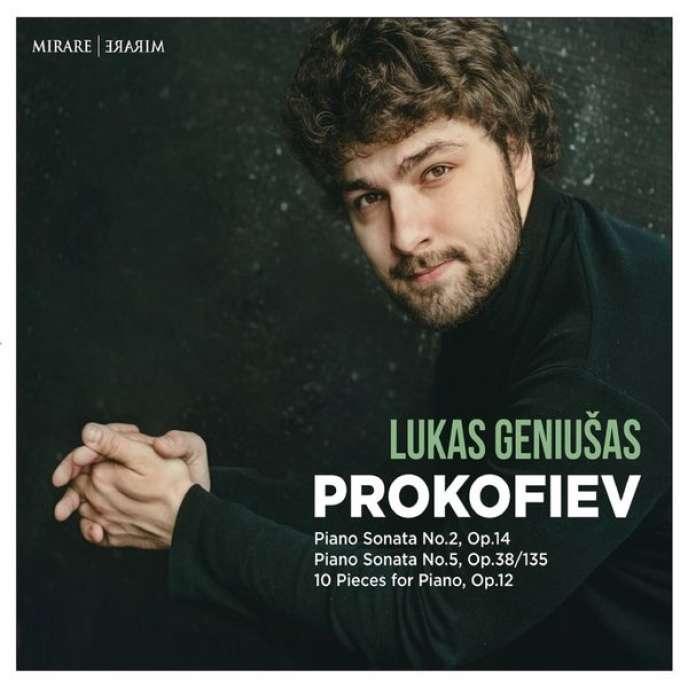 Pochette de l'album du pianiste Lukas Geniusas consacré à Prokofiev.