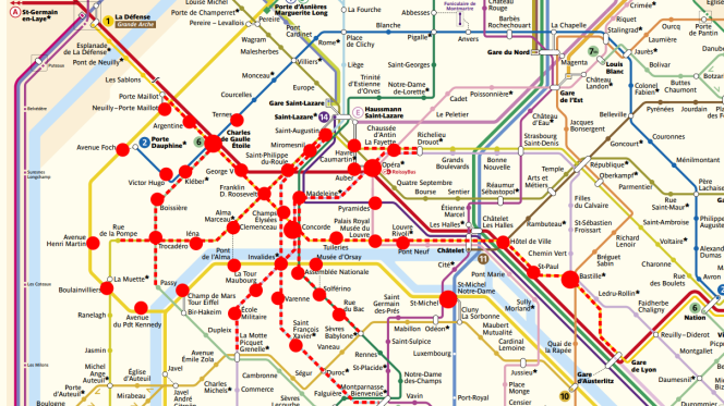 Stations de métro et de RER fermées à Paris samedi 15 décembre.