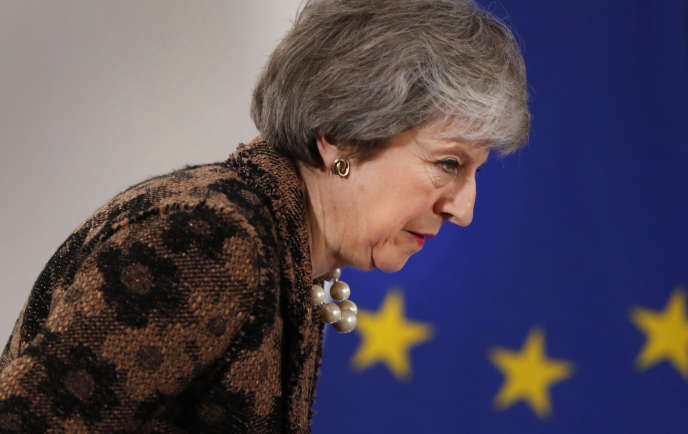 Theresa May, le 14 décembre, au sommet européen de Bruxelles.