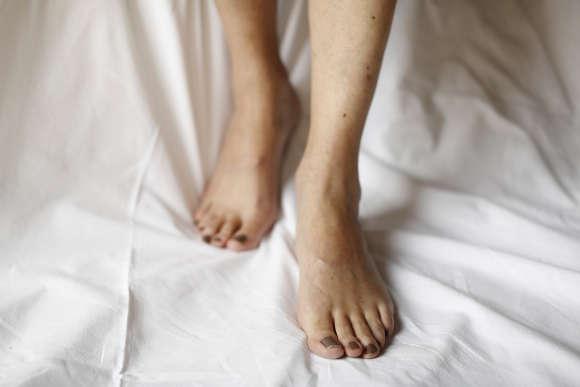 Les pieds de Jeanne.
