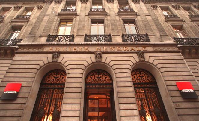 Le siège social de la Société générale, 29 boulevard Haussmann, dans le 9earrondissement de Paris.