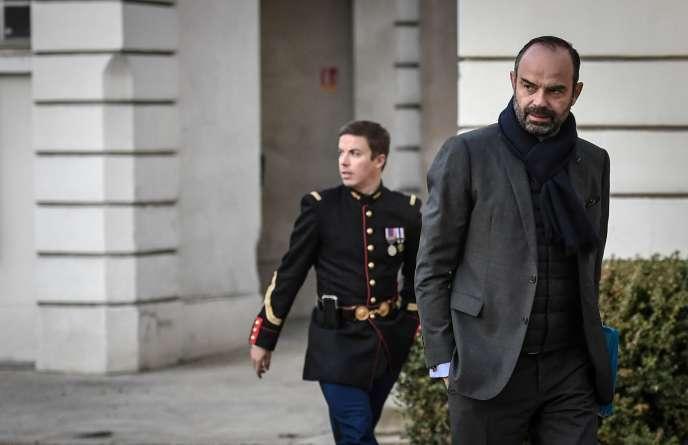Edouard Philippe, à l'hôtel de Matignon, à Paris, le 14 décembre.