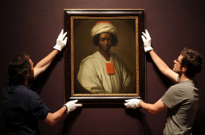 Portrait d'Ayouba Diallo par William Hoare, à la National Portrait Gallery de Londres, en juillet 2010.
