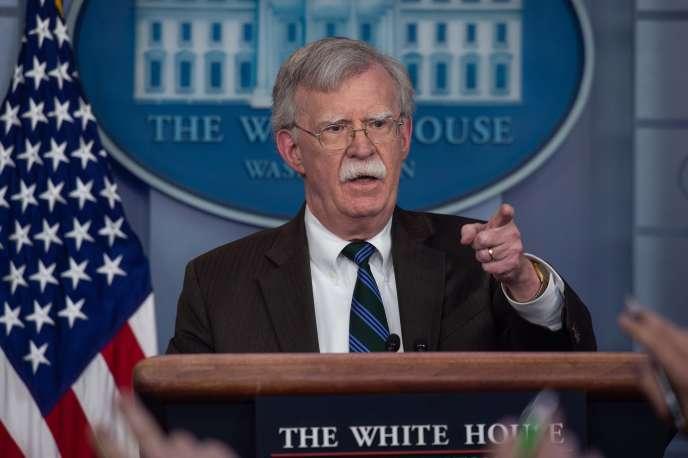 Le conseiller présidentiel pour la sécurité nationale américaine John Bolton, à Washington, le 27 novembre 2018.
