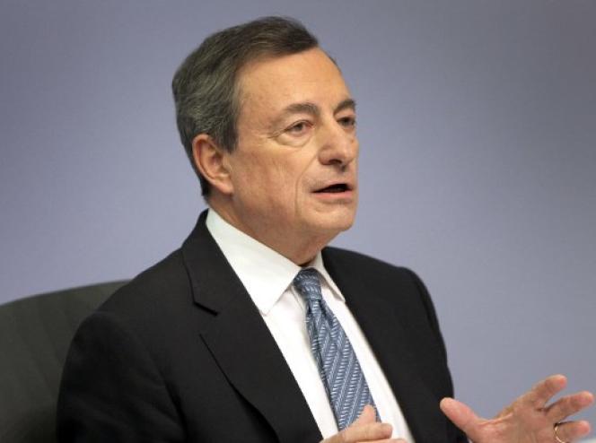 Mario Draghi, président de la BCE, le 13 décembre à Francfort.