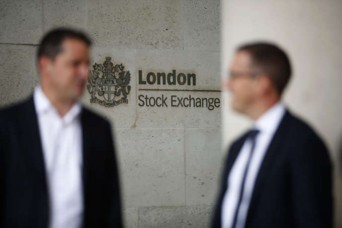 Devant la Bourse de Londres, en août 2017.