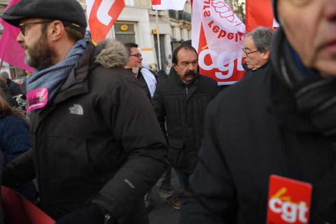 Philippe Martinez, le secrétaire général de la CGT, à Paris, vendredi 14 décembre 2018.
