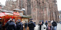 Sur le parvis de la cathédrale de Strasbourg, le 14 décembre.