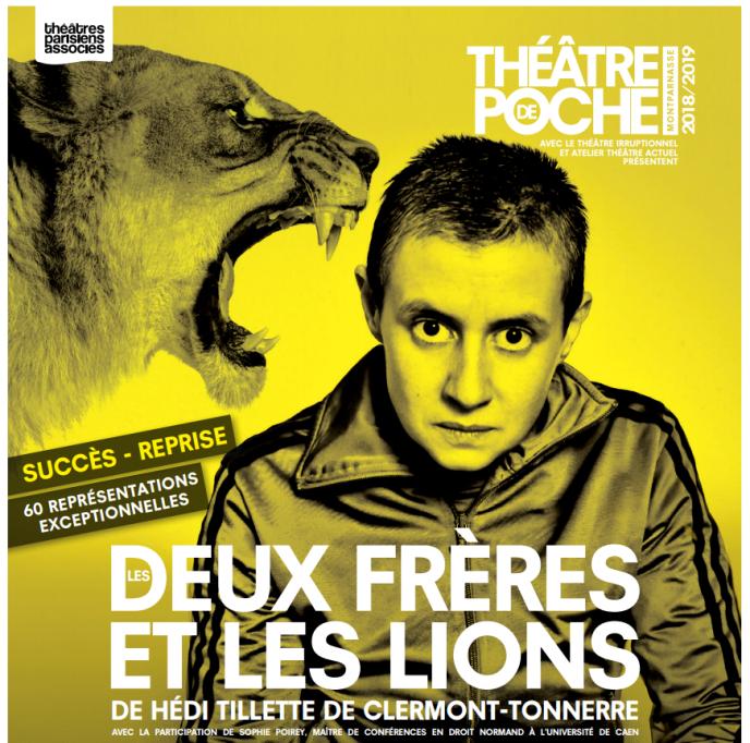 Affiche de la pièce «Les Deux frères et les lions».