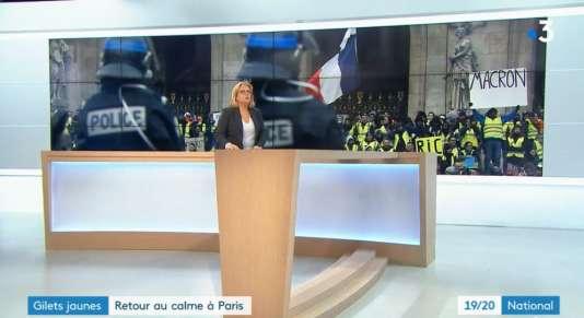 Extrait du journal national de France 3, samedi 15 décembre.