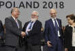 Heads of the delegations react at the end of the final session of the COP24 summit on climate changein Katowice, Poland, Saturday, Dec. 15, 2018. (AP Photo/Czarek Sokolowski)