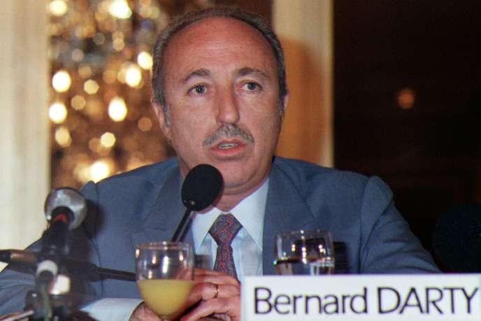 Bernard Darty, en 1988. Il était alors président du conseil d'administration de Darty, distributeur de produits électroménagers.