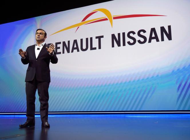 Carlos Ghosn, au CES de Las Vegas, en janvier 2017.