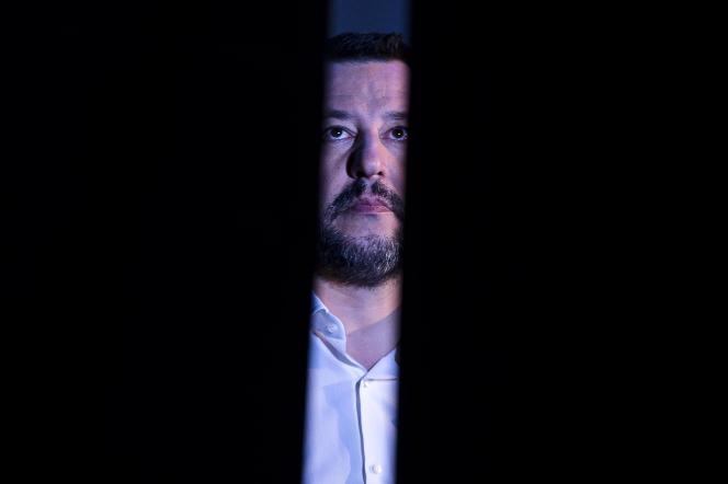 Le ministre de l'intérieur italien (Ligue, extrême droite), Matteo Salvini, le 17 décembre à Rome.