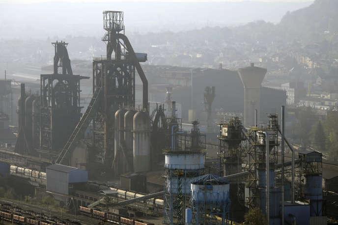 Les hauts-fourneaux de l'usine ArcelorMittal de Florange (Moselle), en avril 2013.
