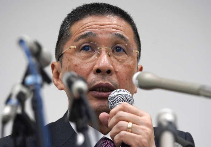 Hiroto Saikawa, directeur général de Nissan, ici le 17 décembre2018, affirme que « les faits sont graves» et qu'il a lui-même été « choqué».