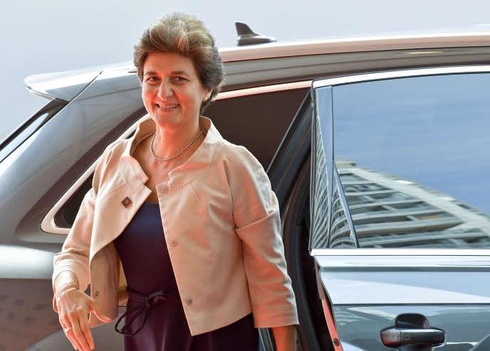 Sylvie Goulard, sous-gouverneure de la Banque de France, lors d'un Eurogroup, à Vienne, le 7 septembre.