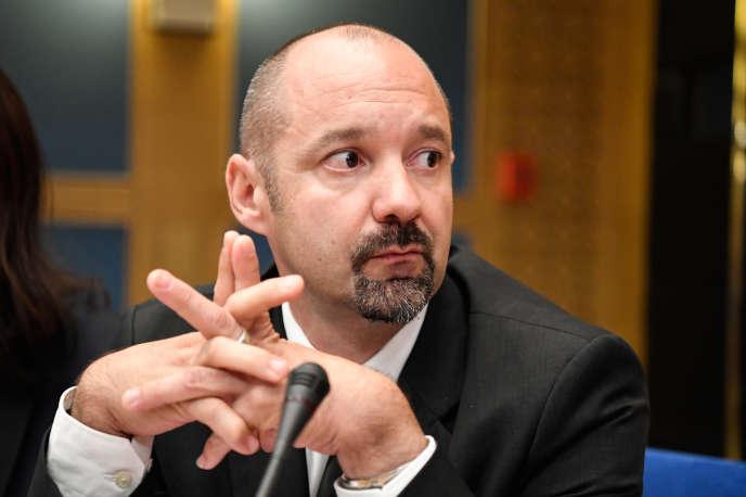 Vincent Crase lors de son audition par la commission des lois du Sénat, le 19septembre.