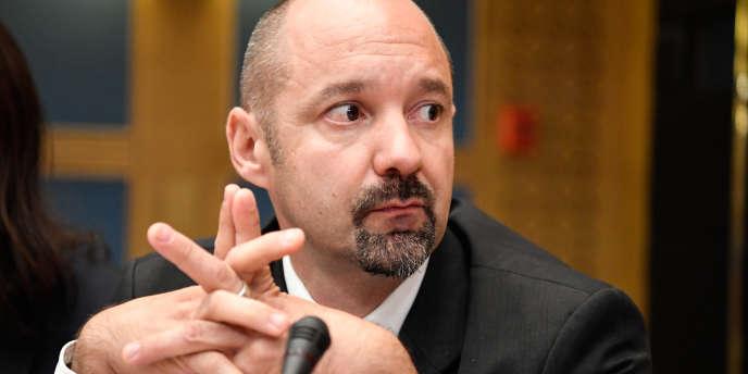 Vincent Crase lors des auditions de la commission des lois du Sénat le 19 septembre.