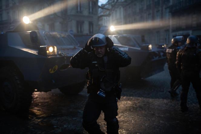 Le 8 décembre, lors de la manifestation des « gilets jaunes» ACTE IV à Paris.
