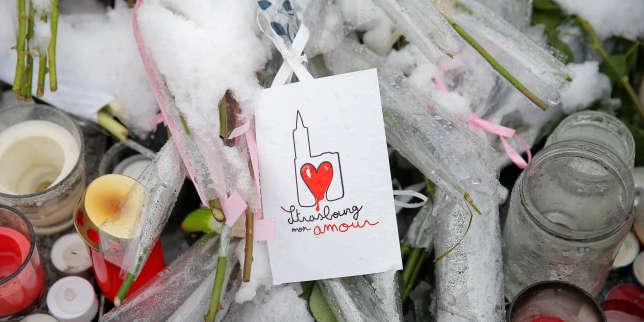 Hommage aux victimes de la fusillade du 11 décembre, à Strasbourg, le 16 décembre.