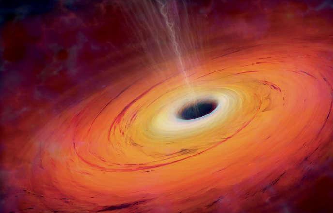 Vue d'artiste d'un trou noir.