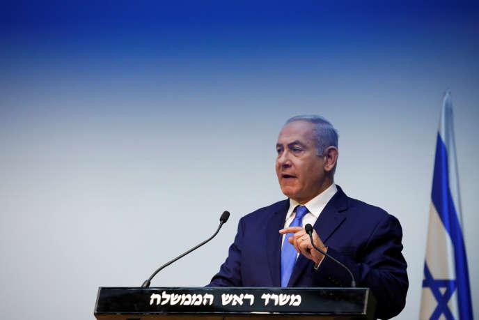 Le premier ministre israélien, Benyamin Nétanyahou, à la Knesset, le Parlement israélien, à Jérusalem, le 19 décembre.