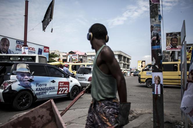 Dans une rue de Kinshasa, en RDC, le 18décembre 2018.
