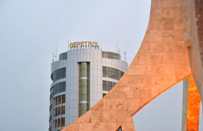 Le siège de lacompagnie nationale équato-guinéenne chargée de la distribution et de la vente des produits pétroliers GEPetrol, à Malabo, en janvier 2015.
