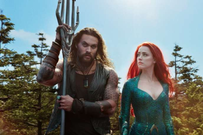 Jason Momoa et Amber Heard dans « Aquaman », de James Wan.
