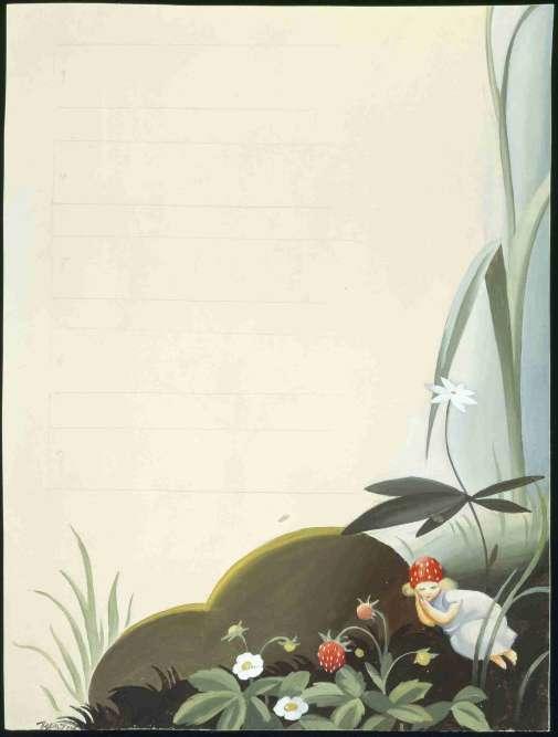 «Le monde lilliputien des petites poucettes, pas plus hautes qu'une fraise des bois, est une constante du conte où le changement d'échelle induit le passage dans l'imaginaire. Dans les illustrations de la Finlandaise Martta Wendelin, qui s'inspirent de celles de la Suédoise Elsa Beskow, les êtres surnaturels qui peuplent la nature nordique prennent un caractère charmant et féérique.»