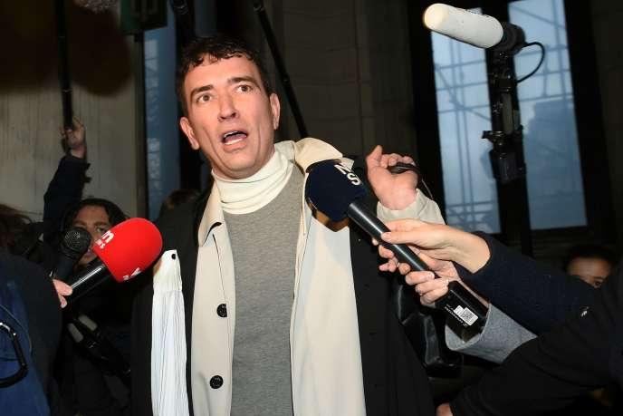 Me Sebastien Courtoy, l'avocat deMehdi Nemmouche, à Bruxelles, le 20 décembre.