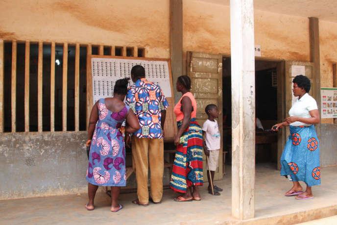 Un bureau de vote dans le quartier de Be, à Lomé, le 20décembre 2018.