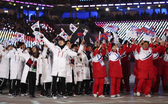 Après les JO d'hiver, il y a eu une multiplication des participations d'équipes intercoréennes dans des événements internationaux.