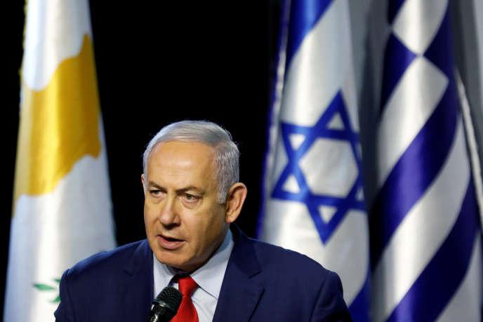 Le premier ministre israélien, Benyamin Nétanyahou, le 20 décembre au parc de Beersheba, en Israël.