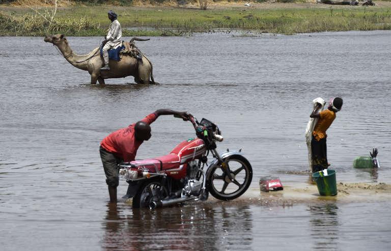 A Ngouboua, un village tchadien attaqué par Boko Haram en février 2015, sur un bras du lac Tchad.
