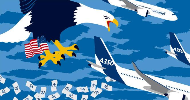 La révélation d'une procédure judiciaire américaine faisait chuter le titre d'Airbus de5,89%, jeudi midi, à la Bourse de Paris.