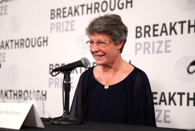 Jocelyn Bell Burnell lors de la remise du Breakthrough Prize au NASA Ames Research Center (Mountain View, Californie), le 4 novembre.
